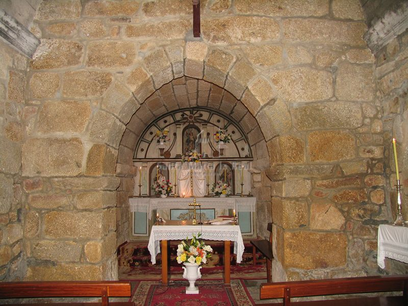Interior de la capilla mayor